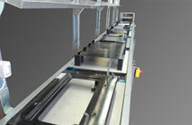 Oven door and counter door assembly lines